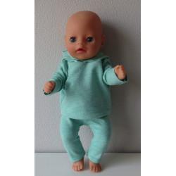 capuchontrui  groen baby...