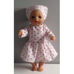 jurk met sterren roze baby...