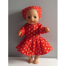 jurk rood met sterren baby...