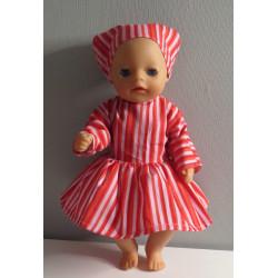 jurk roze gestreept baby...