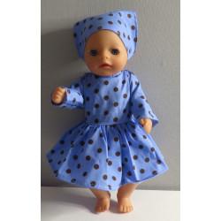 jurk blauw polka dots baby...