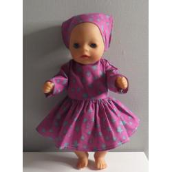 jurk hard roze stippen...