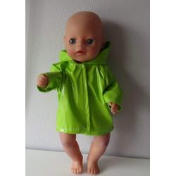 regenjas groen baby born...
