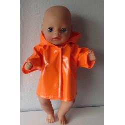 regenjas oranje baby born...