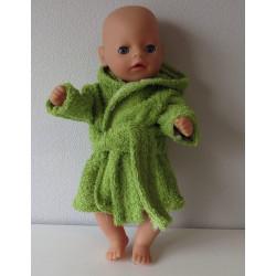 badjas groen baby born...