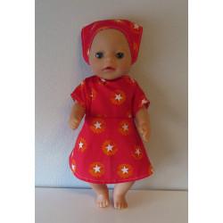jurk rood sterren baby born...