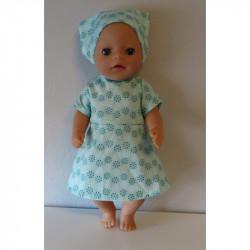 jurk baby born little 36cm