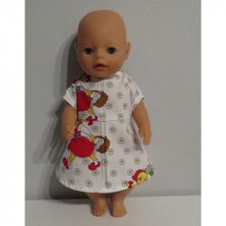 jurk wit roodkapje baby...