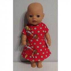 jurk rood roodkapje baby...