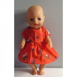 jurk rood baby born little...