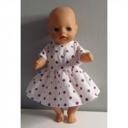 jurk stippen paars baby...