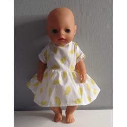 jurk veren geel baby born...