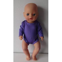 romper paars baby born...