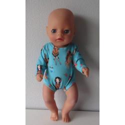 romper indiaan baby born...