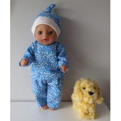 pyjama blauw stippen baby...