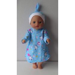 nachtjapon blauw panda baby...