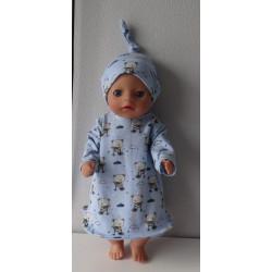 nachtjapon blauw beren baby...
