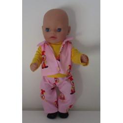 stoer setje roze joki baby...