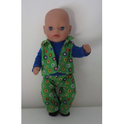 stoer setje groen baby born...