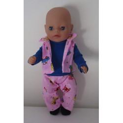 stoer setje roze baby born...