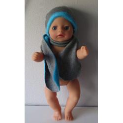 muts met sjaal grijs baby...