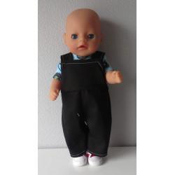 tuinbroek zwart baby born...