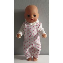 tuinbroek sterren roze baby...