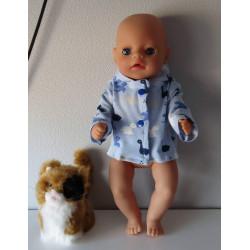 jas blauw dino's baby born...