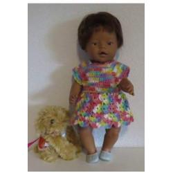 gehaakte jurk gekleurd baby...