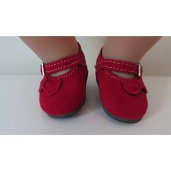 schoentjes rood met strikje...