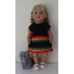 gehaakte jurk baby born 43cm