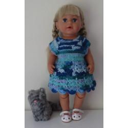 gehaakte jurk blauw...