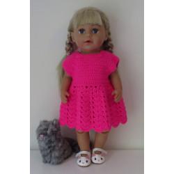 gehaakte jurk hard roze...