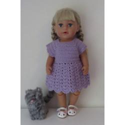 gehaakte jurk lila baby...