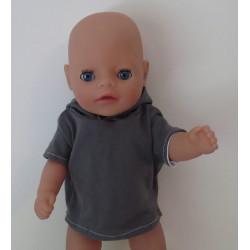 capuchontrui grijs baby...