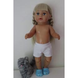 korte broek baby born 43cm