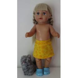 rok geel gebloemd baby born...
