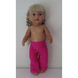 jurk roze meisjespop 46cm