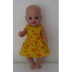 jurk geel wolken oranje...