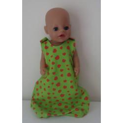 slaapzak groen aardbeien...