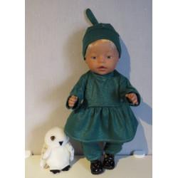 tuniek setje groen baby...