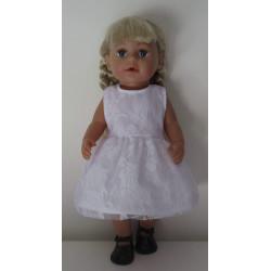 jurk met kant baby born 43cm