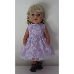 jurk lila met kant baby...