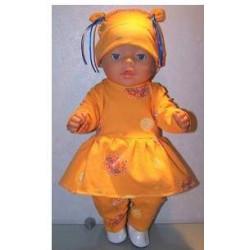 tuniek setje geel baby born...